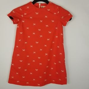 Smockingbird Short Sleeved Bow Shift Dress